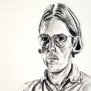 1974 Self-portrait Lithograph